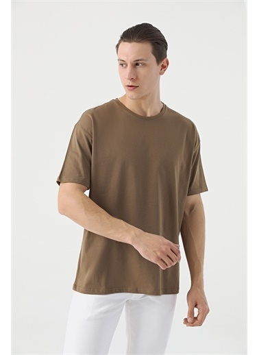 TWN Oversize Düz T-Shirt Vizon
